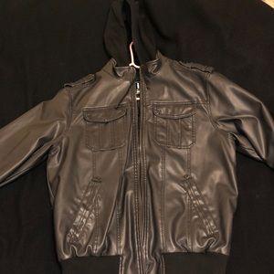 Slick Black Leather Coat